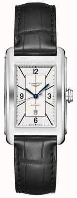 Longines DolceVita | 28mm | Automatic | Silver Dial | Black Leather Strap | L57574730