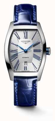 Longines Evidenza Tonneau Blue Leather Strap L21424702