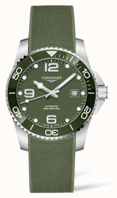 Longines HydroConquest Automatic Green Rubber Strap Watch L37813069