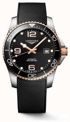 Longines Hydroconquest 41mm | Black Dial | Rubber Strap L37813589