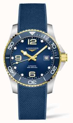 Longines HydroConquest Automatic Blue Rubber Strap Ceramic Bezel L37813969