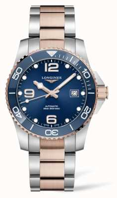 Longines Men's HydroConquest Two Tone Blue Dial L37813987