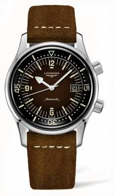 Longines Heritage Legend Diver Brown Leather Strap L37744602