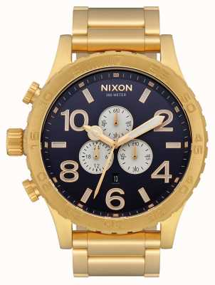 Nixon 51-30 Chrono | All Gold / Indigo | Gold IP Bracelet | Indigo Dial A083-2033