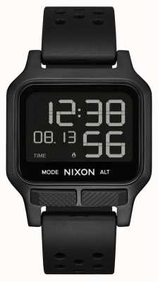 Nixon Heat | All-Black Rubber Strap Watch A1320-001