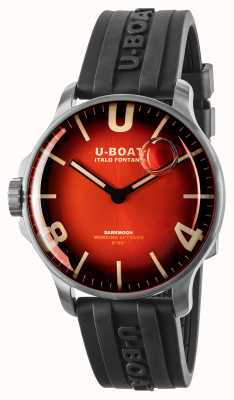 U-Boat Darkmoon 44mm Cardinal Red SS / Rubber Strap 8701