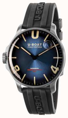 U-Boat Darkmoon 44mm Imperial Blue SS/ Rubber Strap 8704