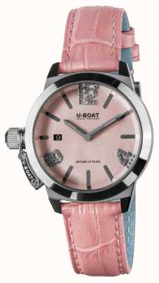 U-Boat CLASSICO 38 PINK LEATHER STRAP 8480