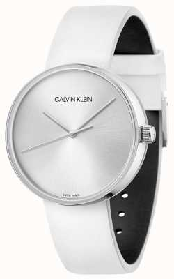 Calvin Klein Women's White Leather Strap | Silver Dial KBL231L6