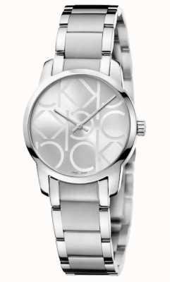 Calvin Klein City | Women's Stainless Steel Bracelet | Silver Dial K2G23142