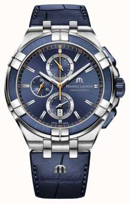 Maurice Lacroix Aikon Chronograph Quartz Blue Leather AI1018-SS001-432-4