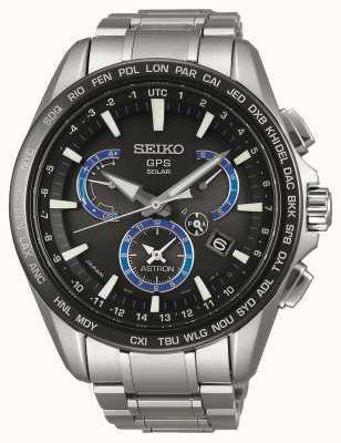 Seiko Astron GPS Solar | Stainless Steel Bracelet | Black Dial SSE107J1
