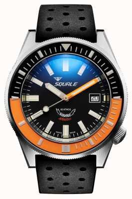 Squale SATIN ORANGE | Automatic | Black Sunburst Dial | Black Silicone Strap MATICXSC.NT-CINTRB22