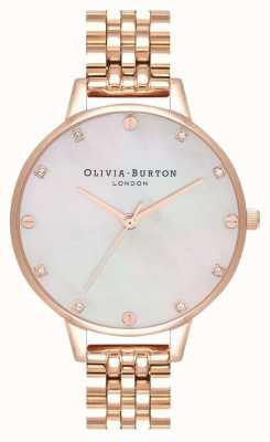 Olivia Burton Demi Blush MOP Rose Gold Bracelet OB16SE15