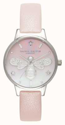 Olivia Burton Sparkle Bee Midi Blush And Silver OB16GB09