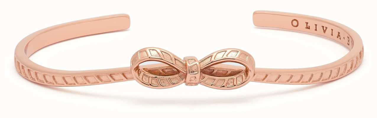 Olivia Burton Bow Bangle Rose Gold OBJVBB26