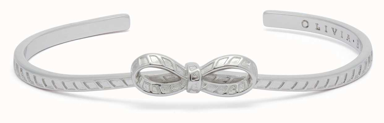 Olivia Burton Bow Bangle Silver OBJVBB28