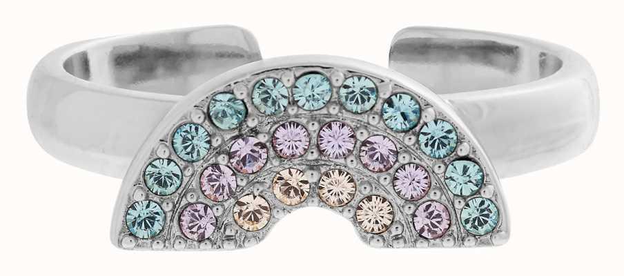 Olivia Burton Rainbow Adjustable Ring Silver OBJRBR12