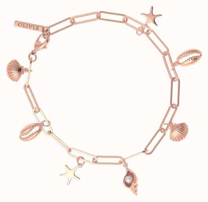 Olivia Burton Under The Sea Charm Bracelet Rose Gold OBJSCB10