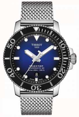 Tissot Seastar 1000 | Powermatic 80 | Blue Dial | Stainless Mesh T1204071104102