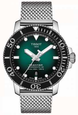 Tissot Seastar 1000 | Powermatic 80 | Green Dial | Stainless Mesh T1204071109100