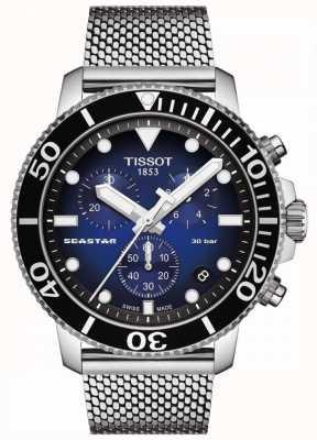 Tissot Seastar 1000 | Chronograph | Blue Dial | Stainless Mesh T1204171104102