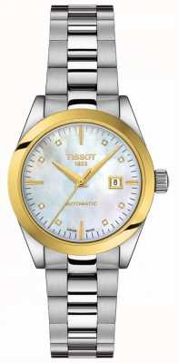 Tissot T-My Lady | 18k Gold | Auto | MOP Dial | Stainless Bracelet T9300074111600