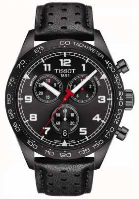 Tissot PRS 516 | Chronograph | Black Dial | Black Leather Strap T1316173605200