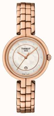 Tissot Flamingo | Mother Of Pearl Dial | Rose Gold PVD Steel T0942103311602