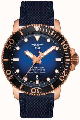 Tissot Seastar 1000 | Powermatic 80 | Blue Dial | Blue Fabric T1204073704100
