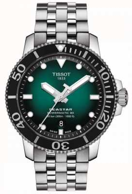 Tissot Seastar 1000 | Powermatic 80 | Green Dial | Stainless Steel T1204071109101