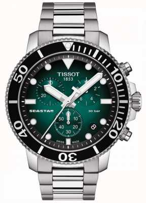 Tissot Seastar 1000 | Chronograph | Green Dial | Stainless Steel T1204171109101