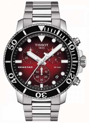 Tissot Seastar 1000 | Chronograph | Red Dial | Stainless Steel T1204171142100