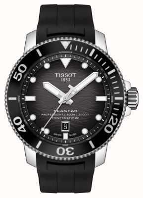 Tissot Seastar 2000 Pro | Powermatic 80 | Black Dial | Silicone T1206071744100