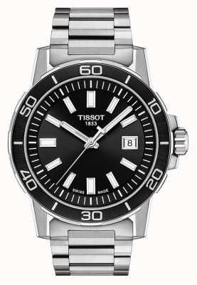 Tissot Supersport | Black Dial | Stainless Steel Bracelet T1256101105100