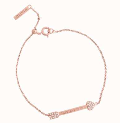 Olivia Burton Classic Arrow Rose Gold Chain Bracelet OBJCOB35
