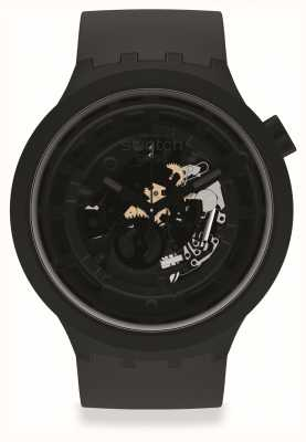 Swatch BIG BOLD NEXT C-BLACK | Black Silicone Strap SB03B100