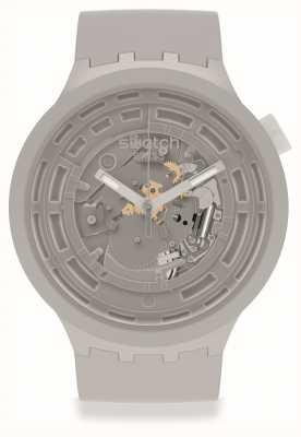 Swatch BIG BOLD NEXT C-GREY | Grey Silicone Strap SB03M100