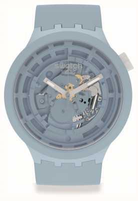 Swatch BIG BOLD NEXT C-BLUE | Pale Blue Silicone Strap SB03N100