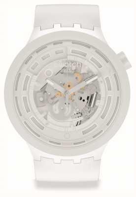 Swatch BIG BOLD NEXT C-WHITE | White Silicone Strap SB03W100