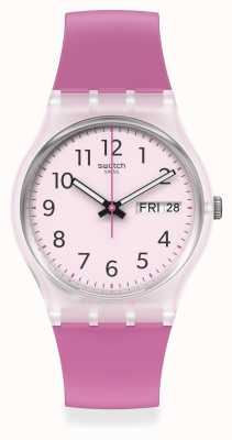 Swatch RINSE REPEAT PINK | Pink Dial | Pink Silicone Strap GE724