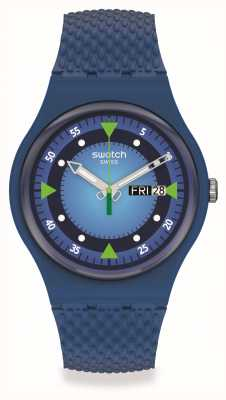 Swatch BLUE BLEND | Blue Dial | Blue Silicone Strap SO29N701