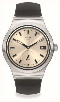 Swatch UNAVOIDABLE | White Dial | Black Leather Dial SY23S408