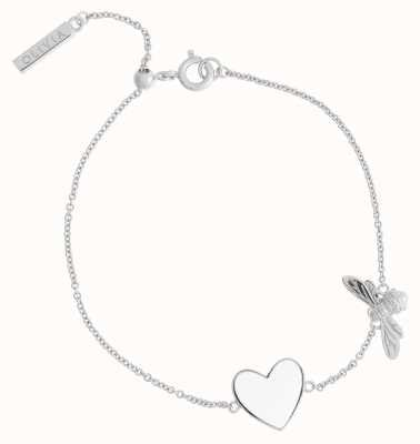 Olivia Burton You Have My Heart White And Silver Bee Chain Bracelet OBJLHB28