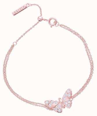 Olivia Burton 3D Sparkle Butterfly Rose Gold Chain Bracelet OBJMBB11