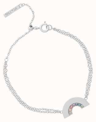 Olivia Burton Rainbow Silver Bracelet OBJRBB12
