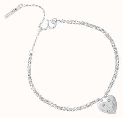 Olivia Burton Classic Heart Silver Bracelet OBJSAB16