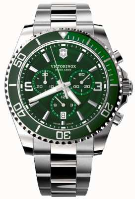 Victorinox Swiss Army | Maverick Chronograph | Men's | Stainless Steel Bracelet | Green Dial 241946