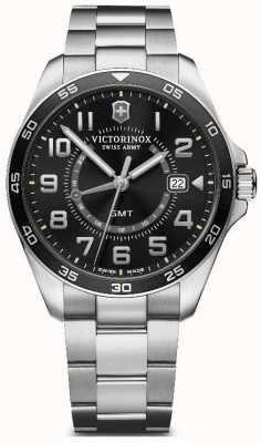 Victorinox Swiss Army | FieldForce GMT | Men's | Stainless Steel Bracelet | Black Dial 241930