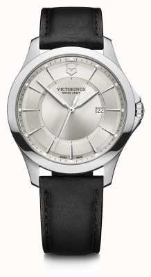 Victorinox Swiss Army | Alliance | Men's | Black Leather Strap | Silver Dial 241905